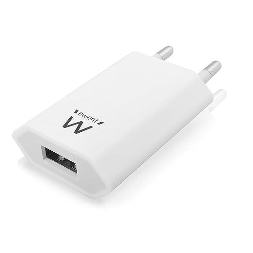 23 opinioni per Ewent EW1209 Caricatore USB da muro 5W, caricatore per iPhone, Samsung Galaxy,