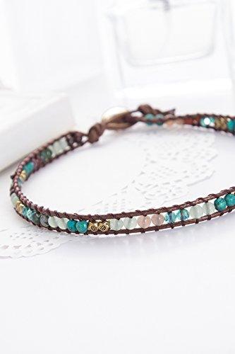 Generic high-end_luxury_jade_crystal_ bracelet bangle _kraft_weave string two_ Rings Crystal Weave Bracelet