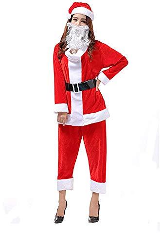 サンタクロース コスプレ 衣装 サンタ レディース メンズ コスチューム クリスマス 5点セット