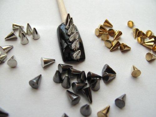 nail studs 3d cone - 3