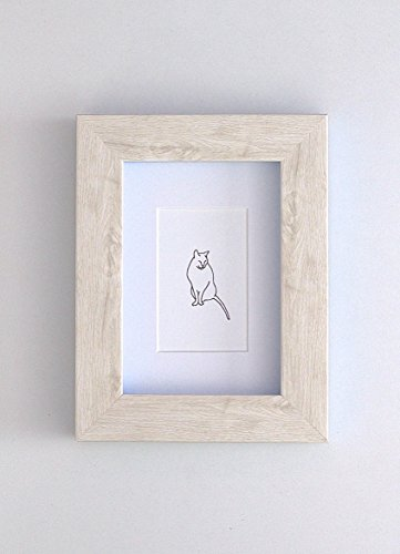 Framed Wall Art Print Gregory The Cat by The Wee Tree Co.