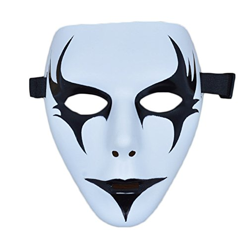 [Giveme5 Halloween Party Shuffle Dance Mask Dancers Hand-Painted Christmas Mask (Style 1)] (Half Doll Half Zombie Costume)