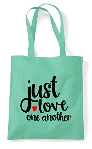 Bag Love Shopper Tote Statement Just One Another Mint RXwdq7q