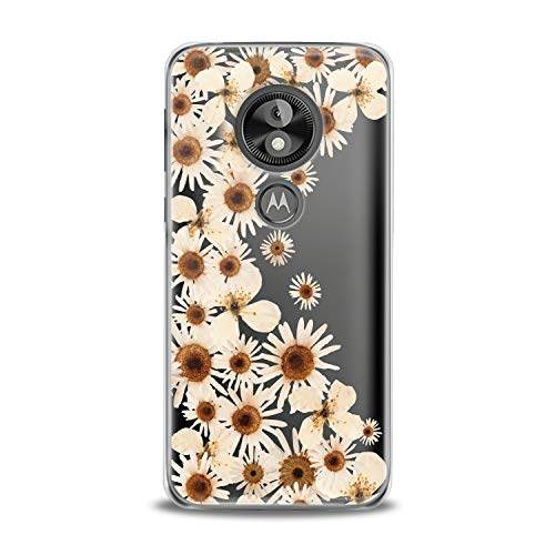 Lex Altern TPU Case Motorola Moto G7 One P30 Play Note Z3 G6 E5 Plus Apricot Bloom Flower Clear Cover Daisies Floral Print Protective Pattern Girl Design Women Transparent Flexible -