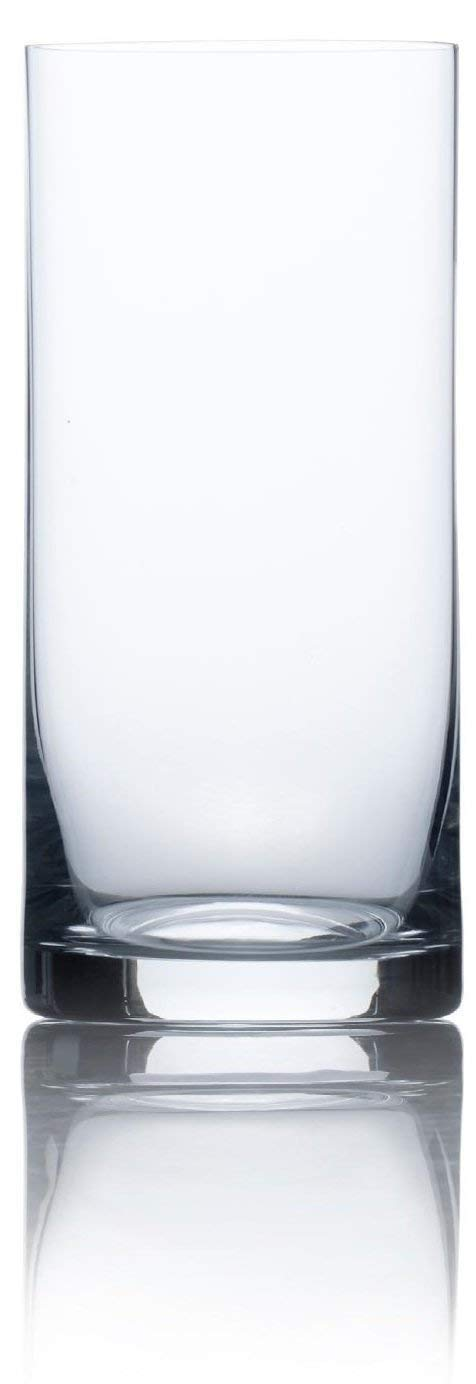 Circleware Soiree Heavy Base Highball Drinking Glasses, Set of 4, Beverage Kitchen Glassware for Water, Juice, Ice Tea, Beer, Wine & Bar Liquor Dining Decor Gifts, 17 oz, Bohemia Tumbler