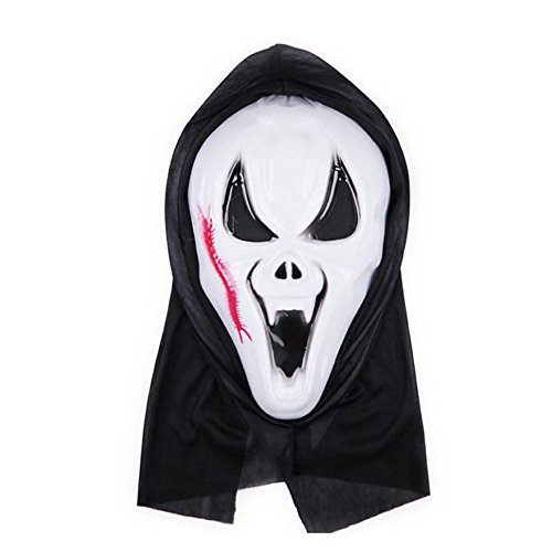 [DRASEX Halloween Skeleton Ghost Mask Masquerade Party Trick Grimaces Party,Scream Ghost Face Costume Horror Grimace Tricky Props for Cosplay] (Scream Classic Ghost Face Child Costumes)