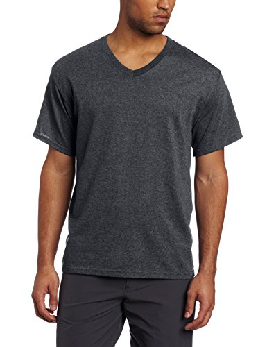 Russell Athletic Men's Big and Tall Athletic Vneck Tee, Black Heather, 4X-Large