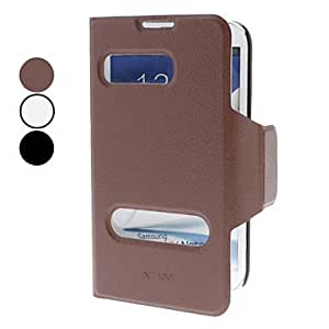 Solid Color PU Leather Full Body Case with Stand for Samsung Galaxy Note 2 N7100 (Assorted Colors) --- COLOR:Brown