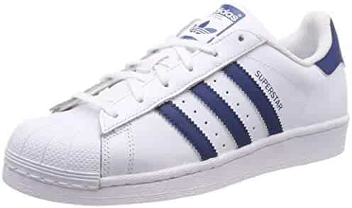 adidas Youth Superstar Leather White Legend Marine Trainers 6 US 653289c30