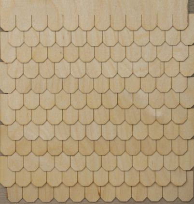 Miniature Dollhouse Shingle Strips Octagon Style (Best Thing For Shingles)