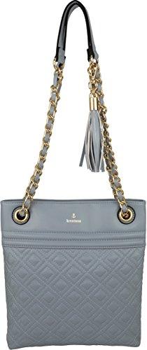 Chain Blue Purse Tassel with Vegan Strap BRENTANO Double Medium Stitch Crossbody amp; B Accent Quilt Handbag qCvawOZ