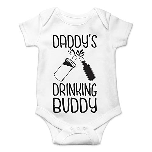5b23899d4 Daddy's Drinking Buddy - Gift Idea for Dad - Funny Cute Infant Creeper, One-