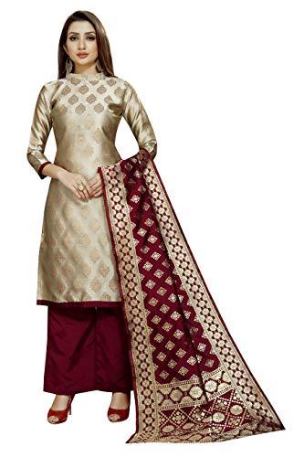 SATYAM WEAVES Women Cotton Silk Un-Stitched Dress Material