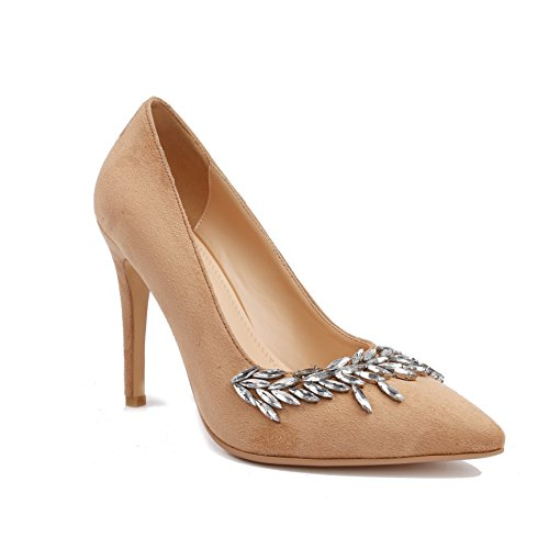 Dongya 3 Colors Womens 100mm Heel Fashion Pump Shoes