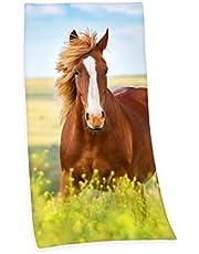 Herding Young Collection ręcznik kąpielowy, motyw konia, 150 x 75 cm, bawełna, wielokolorowy