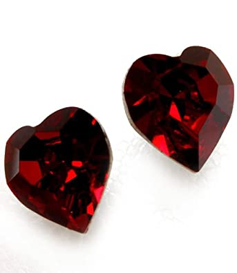 hisjewelscreations cut with vintage earrings swarovski red il from baroque ruby crystal