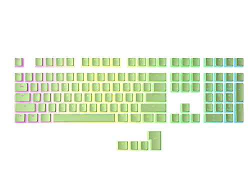 HK Gaming 108 Double Shot PBT Pudding Keycaps