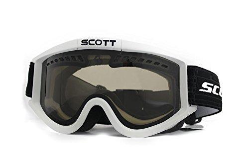 Scott Heli Goggles White Frame Natural Lens