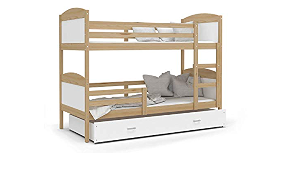 Kids - Cama superpuesta con colchón (190 x 90 cm, Pino ...