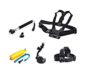 Head Chest Mount Suction Monopod Accessories For GoPro 1 2 3 4 Session Camera