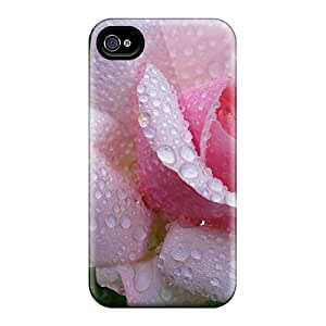 Iphone 4/4s Case Cover Skin : Premium High Quality Beautifully Pink Rose Case