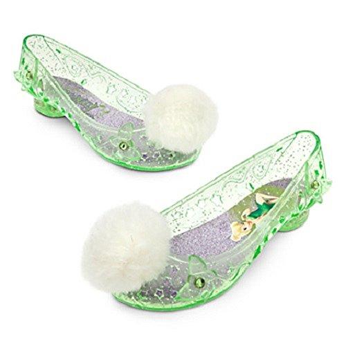 DISNEY STORE TINKERBELL TINKER BELL LIGHT-UP SHOES POMS BELLS COSTUME 2014 (2/3) (Tinker Bell Shoes)