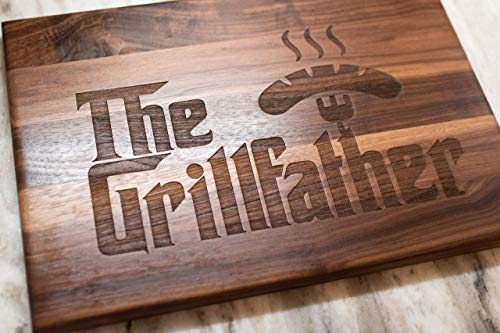 Christmas gift for him The Grillfather Cutting Board is a perfect gift for Dad, Stepfather gift, and grandfather gift.