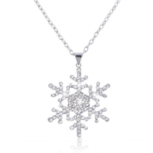 Ever Faith - Cristal Autrichien Flocon de Neige Partie Parures Bijoux Transparent A10026-1