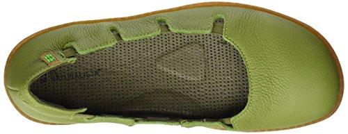 El Naturalista N5272 Soft Grain El Viajero, Zapatos con Plataforma Plana para Mujer Verde (Green)