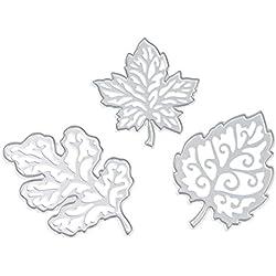 2017 Hot Sale! AMA(TM) Tree Leaves Metal Cutting Dies Stencil Template Mould DIY Scrapbooking Embossing Album Paper Card Craft Gifts (C)