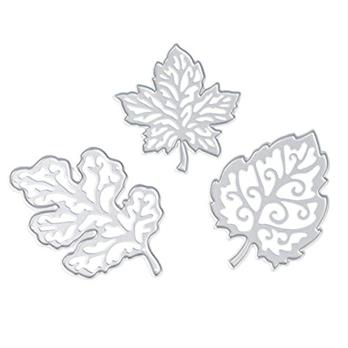 2017 Hot Sale! AMA(TM) Tree Leaves Metal Cutting Dies Stencil Template Mould DIY Scrapbooking Embossing Album Paper Card Craft Gifts (C)