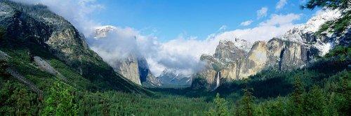- Walls 360 Peel & Stick Wall Mural: Yosemite National Park Bridal Veil Falls (36 in x 12 in)