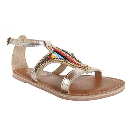 Sandalen für Mädchen MTNG 83513 NAPPA LEATHER ORO