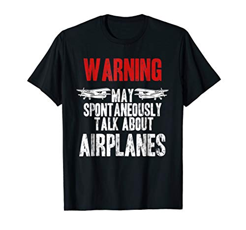 Talk about Airplanes - Funny Pilot and Aviation T-Shirt