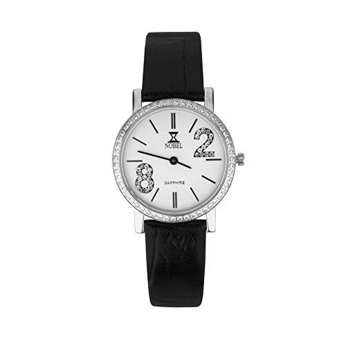 NOBEL Premier Collection Classy Wrist Watch with Set CZ Stones for Women - Swiss Quartz Movement
