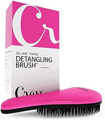Crave Naturals Glide Thru Detangling Brush - Pink/Black