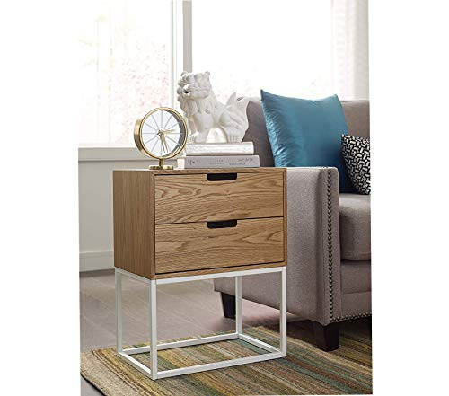 Camden Side Table - Wood & Style Furniture Camden Two Drawer Console Side Table Premium Office Home Durable Strong