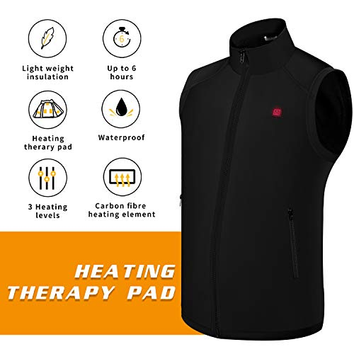 Electric Heated Jackets for Men | Heated Vest/Jacket with 3.7V Battery Pack | Keeps You Warm for Longer | Adjustable Temperature | Portable & Washable | for Indoor & Outdoor Use by Sunbond (Image #2)