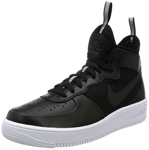 Nike Mens Air Force 1 Ultraforce Mitten Skor Svart / Svart / Vit