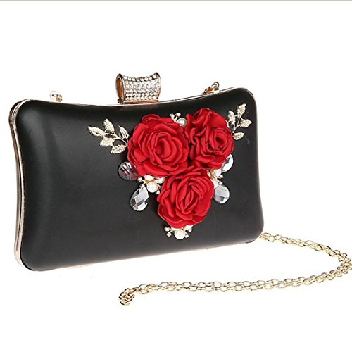 Purse Rhinestone Evening Hard Bag Black Prom Crystal Clutch Party Cocktail Engagement Bags Pearl Wedding For Case Txzw8STrq