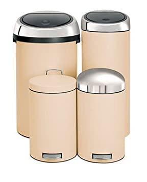 Brabantia Touch Bin 30 Liter.Brabantia Touch Bin 30 L Almond 391125 Brabantia Bin Brabantia