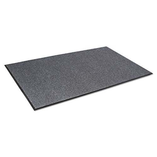 Crown NR0035GY Needle Rib Wiper Scraper Mat, 3 x 5-ft, 5/16-in Thick, Gray NR0035GY