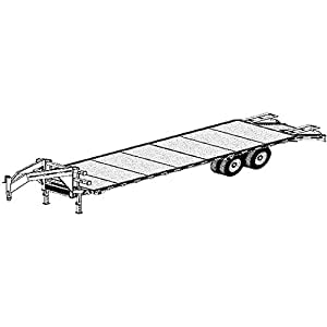 "Amazon.com: 32 'x 102"" Gooseneck Flat Deck Trailer Plans"