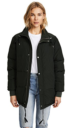 ANINE BING Women's Stockholm Puffer Jacket, Military Green, M/L by ANINE BING