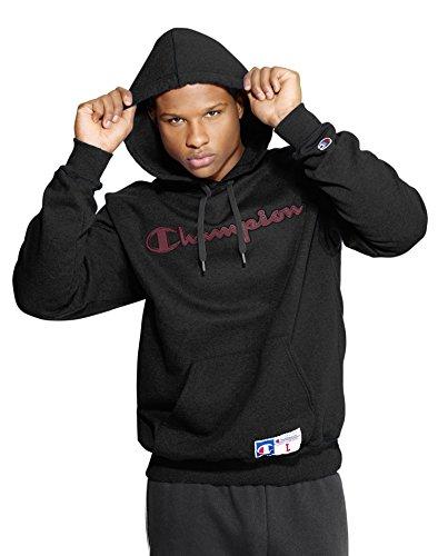 Champion Men's Retro Graphic Pullover Hoodie, Black, X-Large