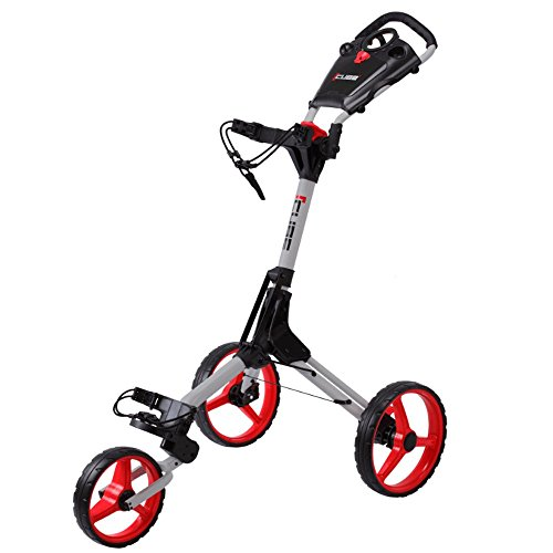 'NEW 2015' SKY MAX CUBE 3 WHEEL GOLF TROLLEY PULL / PUSH CART ALL COLOURS +...