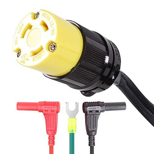 Journeyman Pro 30A Parallel Cord Connection Kit, for Inverter Generators   120-125 VAC, 30 AMP - 4000/3750 Watts TT-30R Female Connector RV Ready (L530R Twist Lock)