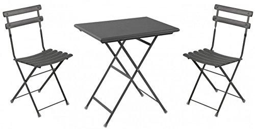 Balkonmöbel Set 3-Teilig, EMU, Rechteckig, Antikeisen, Klein
