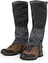 1 Pair Unisex Snow Leg Gaiters Outdoor Waterproof Sports Boots Gaiters Hiking Walking Climbing Hunting Cycling