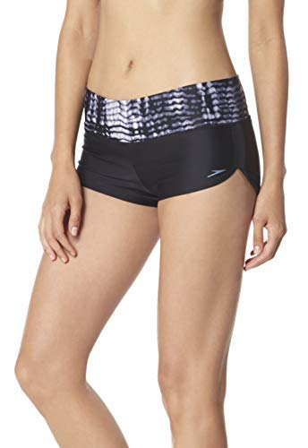Speedo Blocked Boyshort, Grey, X-Small